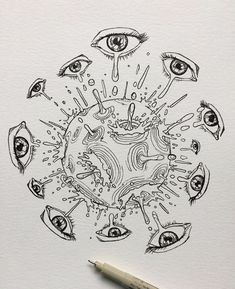 Arte Grunge, Grunge Art, Cool Art Drawings, Art Drawings Sketches, Indie Drawings, Art Journal Inspiration, Art Inspo, Pretty Art, Cute Art