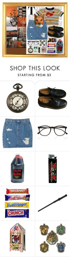 """""""ShE dAnCEs WiTH tHe ShAdOwS"""" by gloomytearrs ❤ liked on Polyvore featuring CoffeeShop, Black Pearl, Dr. Martens, Monki, Illesteva and trickortreat"""