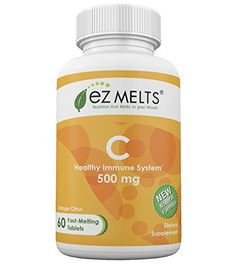 EZ Melts Vitamin C 500 mg Fast Melting Tablets -- You can find more details by visiting the image link. (Note:Amazon affiliate link)