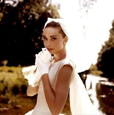 Audrey in wedding dress#Repin By:Pinterest++ for iPad#