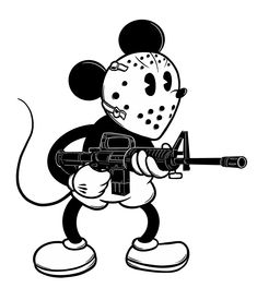 Toy Story Tattoo, Mouse Tattoos, Dark Art, Mickey Mouse, Disney Characters, Fictional Characters, Snoopy, Stickers, Gun