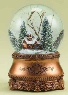 "Amazon.com: 6"" Musical Vintage-Style Church Christmas Snow Globe Glitterdome: Home & Kitchen"