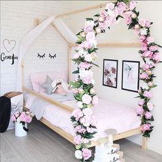 Floral Big Girl Bed