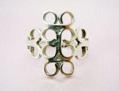 SALE Ring Vintage Sterling Silver Filligree by RichardsRarityRealm