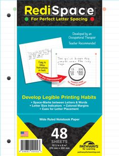 Handwriting Paper - Spacing -   RediSpace Notebook Filler Paper