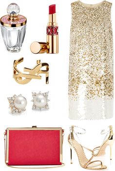 """""""Golden Christmas"""" by hawj89 on Polyvore"""