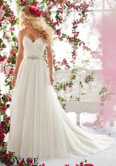 Voyage by Mori Lee 6834 Strapless Lace A-Line Wedding Dress