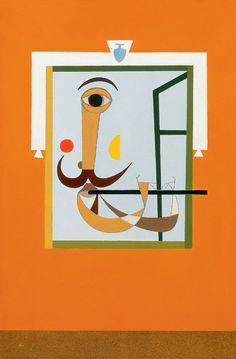 Korniss Dezső,Fuvolázó, 1950 Expressionism, Hungary, Surrealism, Illustration, Oil On Canvas, Anatomy, Modern Art, Character Design, Symbols
