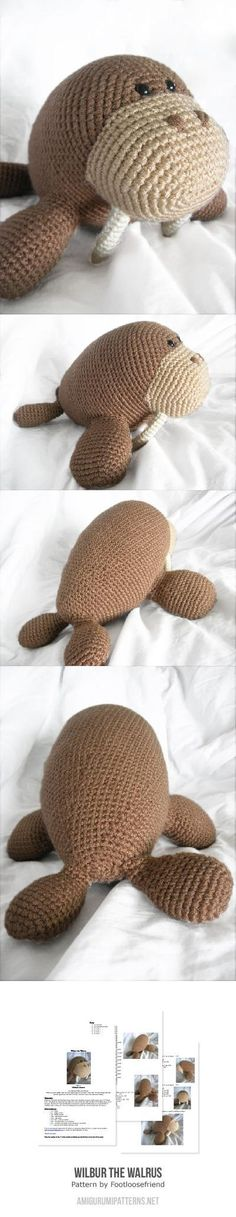 Wilbur The Walrus Amigurumi Pattern