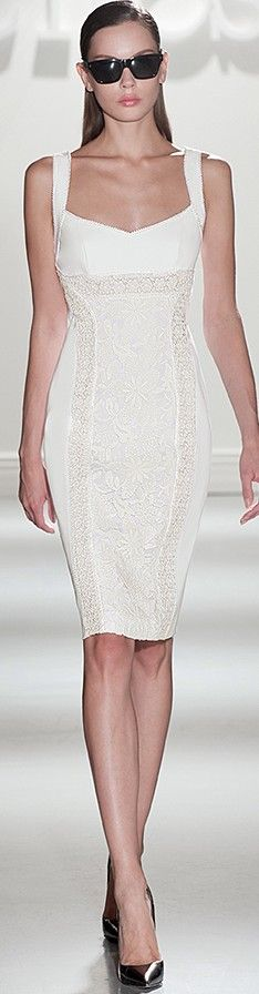 Clips~ Summer White Sheath Dress