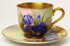 Royal Worcester Iris By T. Lockyer