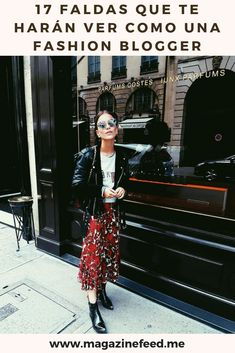Rock glam look: leather biker jacket, vintage graphic tee, floral midi skirt and western boots Uñas Fashion, Fashion Outfits, Womens Fashion, Lolita Fashion, High Fashion, Back To School Outfits, College Outfits, Fall Winter Outfits, Autumn Winter Fashion