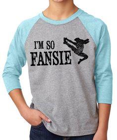 Newsies T-Shirt - I'm so Fansie kids youth 3/4 sleeve cvc raglan unisex baseball jersey - Newsies Musical Movie - Newsies Fansies - Newsies Forever