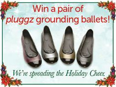Win a pair of pluggz grounding ballet shoes!  To enter, see our Facebook page: https://www.facebook.com/pluggzfootwear
