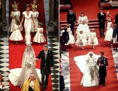 Nearly 30 years apart....Diana and Kate's Royal Weddings were held on July 29, 1981 and April 29, 2011.