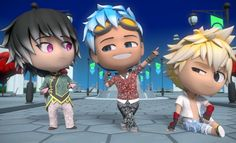 RWBY Chibi S2 - Wanna start your own boy band? Start by glitterfying yourselves!