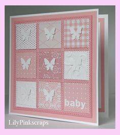 Little girl baby patchwork card by LilyPinkscraps on Etsy