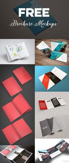 Here are 29 Free Brochure Mockup Templates, you can modify this template through Photoshop.  http://www.tinydesignr.com/2015/04/free-psd-brochure-mockup-templates.html
