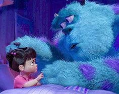 Boo and Sulley from Disney and Pixar's Monsters, Inc.