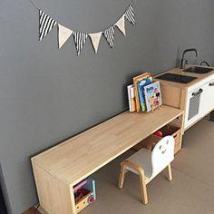 My Desk/無印良品/IKEA/アクセントクロス/DIY/絵本...などのインテリア実例 - 2016-06-19 02:01:03