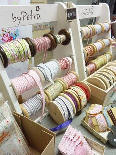 Love these - will have to make this ribbon stand for the studio.