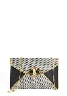 Betsey Johnson Lipstick to Your Style Clutch, #ModCloth