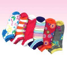 Women's Fashion No Show Fun Socks 6-Pack, 8 Patterns & Styles NWT #TotallyPink #FunTheme