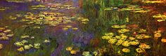 """September 6, 2016 letter, THE OTHER EYE, """"There are eight paintings in these two rooms. Each is two meters high and they vary in length from..."""", (image:  """"Les nymphéas"""" 1920-26 oil on canvas by Claude Monet)"""