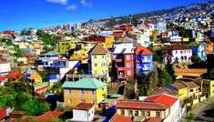 """""""Valparaíso, Chile is located 69 miles northwest of Santiago; it's the city where the National Congress of Chile was established in Cinque Terre, Rafting, Trinidad, Performance Kunst, Chile Tours, Cities In South America, Latin America, Chili, Longyearbyen"""