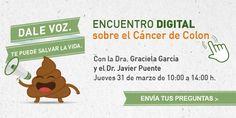 Si tienes alguna duda sobre el cáncer de colon el 31 de marzo nuestro equipo de profesionales te contestará. Pincha en la imagen y escribe tu pregunta #DarleVozSalvaVidas #opticaalomar