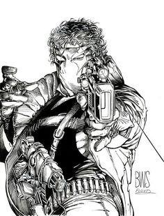 Barry Windsor-Smith's cover for Grifter #1,