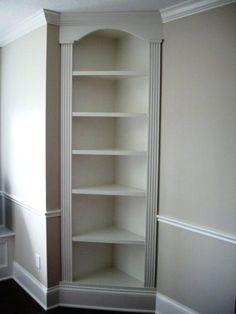 built in corner shelves bathroom built in corner shelves google search custom corner bookshelves