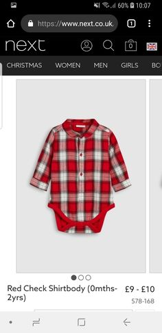 Waleed would love this! Plaid, Red, Baby, Shirts, Tops, Women, Fashion, Moda, Women's
