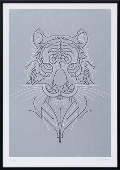 Geometric Screen Prints by The Lost Fox #print #illustration