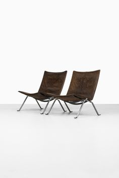 Poul Kjærholm PK-22 easy chairs by E. Kold Christensen at Studio Schalling