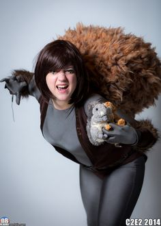 Unbeatable Squirrel Girl, Cosplay Tutorial, Marvel Cosplay, Comic Book Characters, Best Cosplay, Diy Costumes, Just For Fun, Halloween Fun, Pin Up