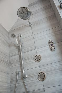 A state of the art rain shower head makes for a luxurious showering experience, while the digital controls allow the homeowner to set the perfect temperature every time.