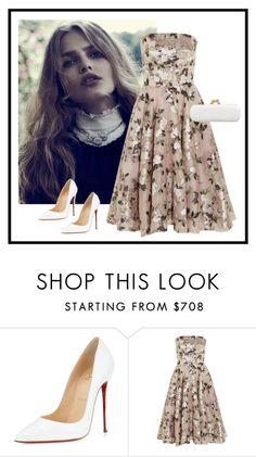 """""""Rh - 732"""" by randeee ❤ liked on Polyvore featuring Christian Louboutin and Alexander McQueen"""