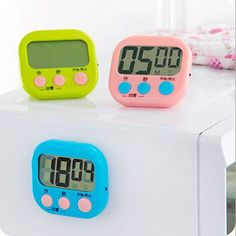 1PCS Kitchen Timer New Clear Magnetic Hot Random Color Countdown Multifunction