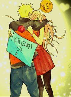 Naruto Hug Sakura/He is happy Sakura want him to boyfriend/NaruSaku FOREVER Shippuden Naruto Uzumaki, Anime Naruto, Boruto, Manga Anime, Shikatema, Sasuhina, Narusaku, Sakura Haruno, Naruto E Sakura