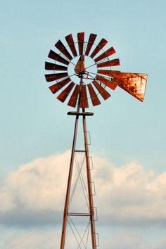 Rusty old windmill.
