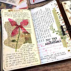 Bullet Journal Notebook, Bullet Journal Ideas Pages, Bullet Journal Inspiration, Art Journal Pages, Art Journals, Travel Journal Pages, Artist Journal, Journal Diary, Drawing Journal