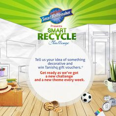 It's the Fun week with Smart Recycle Challenge! How creative can you get with Books, ball, box, matchbox and sketch pens? Tell us your idea of something fun and win Tanishq gift vouchers.*  Get ready as we've got a new challenge this week! Participate now at: http://on.fb.me/HbzNt2