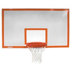 Jaypro Rectangular Perforated Steel Backboard with Border and Target - SR-PERF