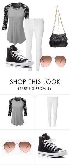 warm fall day by abbymorgan04 on Polyvore featuring LE3NO, Dorothy Perkins, Converse and Judith Leiber
