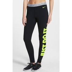 Women's Nike 'Pro Hyperwarm' Mezzo Compression Tights ($58) ❤ liked on Polyvore featuring activewear, activewear pants, leggings, bottoms, pants, nike sportswear, nike, nike activewear and nike activewear pants