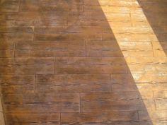 Terraza de hormig n estampado en textura madera con ankare zaline corcho envejecido pavimentos - Pavimento de corcho ...