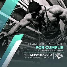 El cansancio no existe si tienes metas por cumplir. #fitness #fit #quotes #frases #motivacion #motivation #bodybuilding