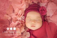 Newborn classic knit bonnet/Newborn girl or by LaBottegaDiViviana