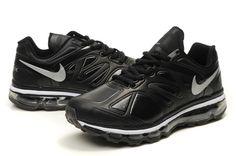 buy online 5eabf a9133 Danmark Billige Nike Air Max 2012 Leather Trainers Mænd - BlackWhite Logo